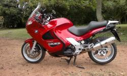 Beautiful red BMW K1200GT. Cruise control, ABS, heated