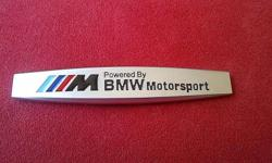 BMW 'Powered By MotorSport' 3D Aluminium Badge Brand