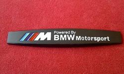 BMW 'Powered By MotorSport' 3D Aluminium Black Badge