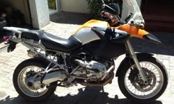 bmw r 1200 gs yellow abs & heated grips ex runner will