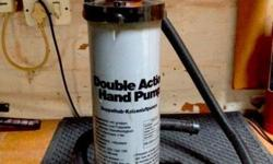 Double action hand pump in excellent condition, used