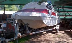 glass fibre hull 60HP mercury bigfoot engine with trim