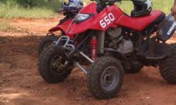 Bombardier Ds 650 for sale. Red in color. Serviced.