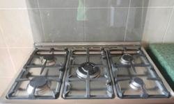 Product features Stainless steel gas hob 1 rapid, 2