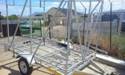 Box trailer almost new. 1.7m x 2.7m. With registration