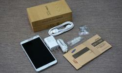 brand samsung galaxy note3, white and clean, with all