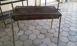Stainless Steel outdoor braai with grill grid and