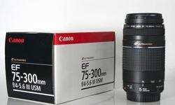Hi all, I'm selling my brand new Canon EF 75-300mm