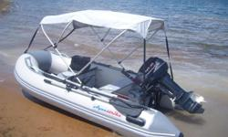 Price Includes: Completely foldable 3.2m boat & 15hp