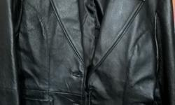 Brand new genuine leather jacket size 36 for sale.