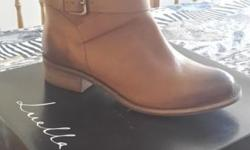 BRAND NEW Genuine leather tan boots from Luella. Never
