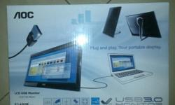"*Brand New*Portable Monitor 15.6"" LED Monitor for Sale"