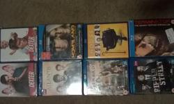 THIS IS FOR 8 BRAND NEW BLU-RAY TV SERIES MOST OF THEM