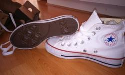 Selling brand new, still in the box, white chuck