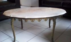 Brass and Marble Table for sale, not sure how old it
