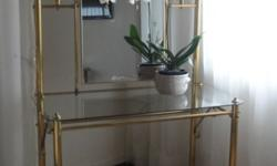 Charming solid brass dressing table with matching