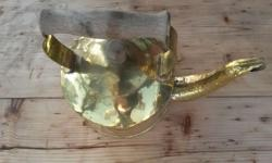 Brass Kettle in good condition, ideal for display in a