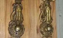 Antique hanging wall unit with French antique finish,