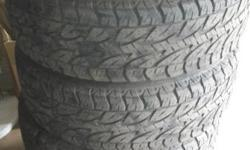 4� Bridgestone A/T Duelers (265/65/17) for sale. Tyres