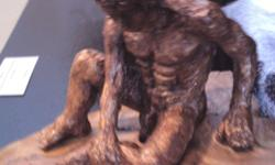 Bronze male sculpture Title: Deliverance Sculptor: CFG