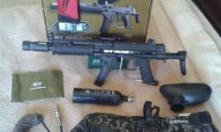 Soort: Paintball The guns in good condition, a few