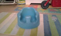Blue Bumbo chair still in a very neat and clean