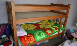 I am selling my kids wooden bunk bed, it needs some TLC