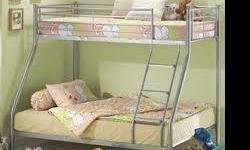 Beskrywing Bunker bed, single top and double bottom to