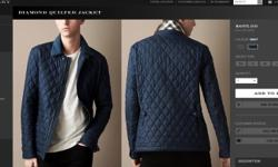 Burberry Diamond Quilted Jacket Very Stylish Only 1 in