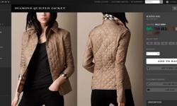 Burberry Diamond Quilted Ladies Jacket Sells in stores