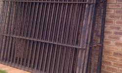 Burglar bars 2.2m x 1.875m x 9 items. Burglar bars 1.3m