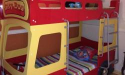 Bright and colour excellent quality bus bunk bed.