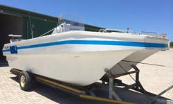 21 ft Buttcat with 2 X 70 hp yamaha outboards (trim &