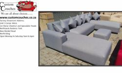 The U-Shape Couch from R6500 Comes with: 8 Cushions &