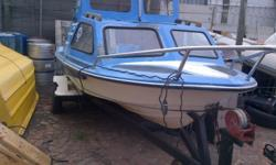 SMALL CABIN BOAT FOR SALE WITH 55HP SUZUKI ( 2 STROKE )