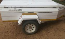Camp Master white trailer good condition with spare