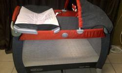Graco Campcot for sale (including mattress & bedding).