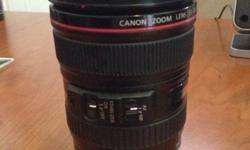 Canon 24-105l zoom lens with Image Stabilizer Used it