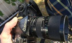 Old-style Cannon lens to fit manual film-type camera -