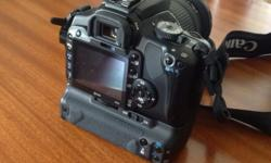 400d with battery grip, 8gb card, extra battery, and