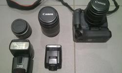 Canon 550D 3 Lenses; 1x Wide Angle Lens 1x 18mm - 35mm