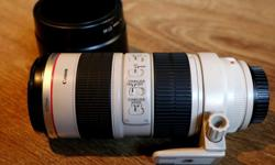 Canon EF 70-200 L f/ 2.8 IS USM in excellent condition.