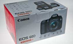 Brand new sealed in box ...Canon EOS 60D DSLR with EF-S