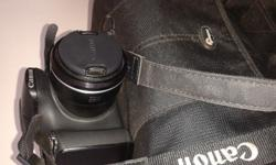 Canon SX 40 +  8GB card and a Lowepro bag.