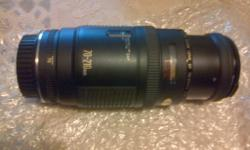 Three piece for sale, Canon zoom lens EF 70-210mm,