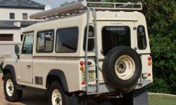 Defender 110 fiberglass Canopy, Roof-rack not included.