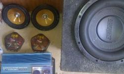 JVC radio-R300 pioneer 6x9-R250, tweeter, spliters, DVC