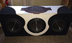 3RA subs in one box 400rms per sub RA Vinal on top of