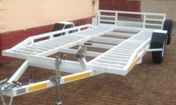 Car Trailer For Hire-Single Axle.Brand new. White in