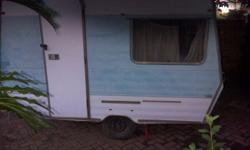 Old Sprite 2 bed caravan to use as a tuck shop or as an